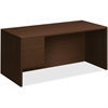 "HON 10500 Series Left Pedestal Desk - 66"" x 30"" x 29.5"", 66"" x 30"" Work Surface, Edge - 2 x File Drawer(s), Box Drawer(s) - Single Pedestal on Left Side - Smooth Edge - Material: Particleboard Modesty"