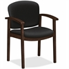 "HON Invitation Guest Chair - Polymer Seat - Hardwood Frame - Four-legged Base - Black - 20"" Seat Width x 17"" Seat Depth - 23.5"" Width x 22"" Depth x 33.1"" Height"