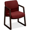 "HON 2400 Srs Mocha Hardwood Sled Base Guest Chair - Wood Burgundy, Plywood, Urethane Foam Seat - Urethane Foam Burgundy Back - Wood, Hardwood Frame - Sled Base - Natural - 20"" Seat Width x 17.75"" Seat"