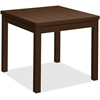 "HON Mocha Laminate Corner Table - 24"" x 20"" x 24"", Edge, 24"" x 24"" Work Surface, Top - Square Edge - Material: Wood Grain Work Surface, Particleboard Top - Finish: Thermofused Laminate (TFL) Work Surf"