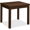 "HON End Table - 24"" x 20"" x 20"", Edge, 20"" x 20"" Work Surface, Top - Square Edge - Material: Wood Grain Work Surface, Particleboard Top - Finish: Thermofused Laminate (TFL), Mocha"