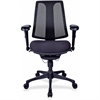 "Lorell Posture Lock Mesh Back Chair - Fabric Seat - Plastic Black Frame - 5-star Base - Black - 19.10"" Seat Width x 20.10"" Seat Depth - 25"" Width x 14.4"" Depth x 42"" Height"