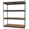 Lorell Archival Shelving - 80 x Box - 4 Compartment(s) - Recycled - Black - Steel, Particleboard - 1Each