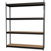 Lorell Archival Shelving - 40 x Box - 4 Compartment(s) - Recycled - Black - Steel, Particleboard - 1Each
