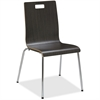 "Lorell Bentwood Cafe Chair - Steel Frame - Espresso - Plywood, Bentwood - 21"" Width x 20.5"" Depth x 34"" Height"