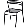 "Safco Multipurpose Stacking Metal Chairs - Slate Seat - Slate Back - Tubular Steel Black Frame - Four-legged Base - Metal - 16.50"" Seat Width x 16"" Seat Depth - 18.5"" Width x 22"" Depth x 28.8"" Height"