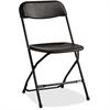 "Samsonite Samsonite 2200 Series Injection Mold Folding Chair - Polypropylene Black Seat - Polypropylene Black Back - Steel Powder Coated, Black Frame - Four-legged Base - 31.5"" Width x 19.3"" Depth x 1"