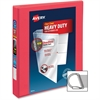 "Avery Ring Binder - 1"" Binder Capacity - 220 Sheet Capacity - Slant D-Ring Fastener - 2 Internal Pocket(s) - Polyvinyl Chloride (PVC)"