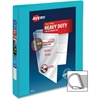 "Avery Ring Binder - 1"" Binder Capacity - 220 Sheet Capacity - Slant D-Ring Fastener - 2 Internal Pocket(s) - Polyvinyl Chloride (PVC) - Aqua"
