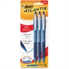 BIC Atlantis Ballpoint Pen - Bold Point Type - 1.6 mm Point Size - Refillable - Blue Oil Based Ink - Blue Barrel - 3 / Pack