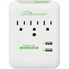 Compucessory 3-Outlet Surge Suppressor/Protector - 3 x AC Power, 2 x USB - 1800 J