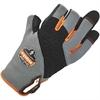 ProFlex 720 Heavy-Duty Framing Gloves - 9 Size Number - Large Size - Neoprene Knuckle, Poly - Black, Gray - Heavy Duty, Padded Palm, Reinforced Palm Pad, Reinforced Fingertip, Reinforced Saddle, Hook