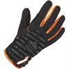 ProFlex 812 Standard Utility Gloves - 8 Size Number - Medium Size - Synthetic Leather Palm, Poly - Black - Reinforced Saddle, Hook & Loop Closure, Pull-on Tab, Comfortable, Flexible, Durable - For War