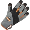 ProFlex 820 High Abrasion Handling Gloves - 7 Size Number - Small Size - Poly, Neoprene Knuckle - Gray, Black - Pull-on Tab, Abrasion Resistant, Reinforced Thumb, Knitted, Comfortable, Rugged, Reinfor