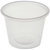 Genuine Joe Cup - 1 fl oz - 50 Bag - Clear - Polystyrene - Beverage, Sauce