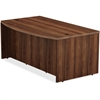 "Lorell Desk - 36"" x 72"" x 29.5"", Top - Reeded Edge - Finish: Walnut Laminate Surface"
