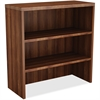 "Lorell Chateau Bookshelf - Top, 36"" - 2 Shelve(s) - Reeded Edge"