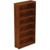 "Lorell Chateau Bookshelf - Top, 36"" x 12.5"" x 74"" - 6 Shelve(s) - Reeded Edge - Finish: Cherry Laminate Surface"
