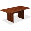 "Lorell Chateau Conference Table - Edge, Top, 72"" x 36"" - Reeded Edge - Finish: Cherry Laminate"