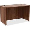 "Lorell Desk - 48"" x 24"" x 29.5"", Edge - Material: Metal, Polyvinyl Chloride (PVC) Edge - Finish: Walnut Laminate"