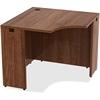 "Lorell Desk - 36"" x 36"" x 29.5"", Edge - Material: Metal, Polyvinyl Chloride (PVC) Edge - Finish: Walnut, Laminate"