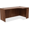 "Lorell Credenza - 66"" x 36"" x 29.5"", Edge - Material: Metal, Polyvinyl Chloride (PVC) Edge - Finish: Walnut Laminate"
