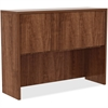 "Lorell Hutch - 48"" x 15"" x 36"", Edge - Material: Metal, Polyvinyl Chloride (PVC) Edge - Finish: Walnut, Laminate"