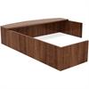 "Lorell Reception Desk - 82.8"" x 66"" x 14.8"", Edge - Material: Metal, Polyvinyl Chloride (PVC) Edge - Finish: Walnut Laminate"