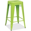 "Lorell Utility Stools - Powder Coated Frame - Lime - Metal - 30.5"" Width x 30.5"" Depth x 26"" Height"