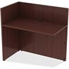 "Lorell Reception Desk - Edge, 42"" x 24"" x 41.5"" - Material: Polyvinyl Chloride (PVC) Edge - Finish: Mahogany Laminate"