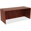 "Lorell Desk - 72"" x 30"" x 29.5"" Desk, Edge - Material: Polyvinyl Chloride (PVC) Edge, Metal - Finish: Cherry Laminate"
