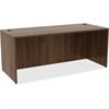 "Lorell Desk - 72"" x 30"" x 29.5"" Desk, Edge - Material: Polyvinyl Chloride (PVC) Edge, Metal - Finish: Walnut Laminate"