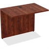 "Lorell Desk - 34"" x 24"" x 29.5"" Desk, Edge - Material: Polyvinyl Chloride (PVC) Edge, Metal - Finish: Cherry Laminate"