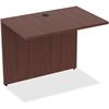 "Lorell Desk - 34"" x 24"" x 29.5"" Desk, Edge - Material: Polyvinyl Chloride (PVC) Edge, Metal - Finish: Mahogany Laminate"