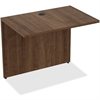 "Lorell Bridge - 34"" x 24"" x 29.5"" Desk, Edge - Material: Polyvinyl Chloride (PVC) Edge - Finish: Walnut Laminate"