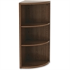 "Lorell Book Rack - 36"" Height x 14.8"" Width - Floor - Walnut - Laminate, Polyvinyl Chloride (PVC) - 1Each"