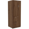 "Lorell Essentials Storage Cabinet - 23.6"" x 23.6"" x 65.6"" Cabinet, 0.5"" Compartment - 2 x Storage Drawer(s) - 1 Door(s) - Finish: Walnut, Laminate"