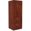 """Lorell Essentials Storage Cabinet - 23.6"""" x 23.6"""" x 65.6"""" Cabinet, 0.5"""" Compartment - 2 x Storage Drawer(s) - 1 Door(s) - Finish: Cherry, Laminate"""