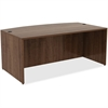 "Lorell Desk - 35.4"" x 71"" x 29.5"" Desk, Edge - Material: Polyvinyl Chloride (PVC) Edge, Metal - Finish: Walnut, Laminate"