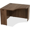 "Lorell Desk - 42"" x 29.5"" x 24"" Desk, Edge - Material: Polyvinyl Chloride (PVC) Edge, Metal - Finish: Walnut, Laminate"