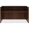 "Lorell Reception Desk - 14.9"" x 29.5"" x 66"", Edge - Material: Polyvinyl Chloride (PVC) Edge, Metal - Finish: Walnut, Laminate"