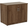 "Lorell Storage Cabinet - 36"" x 22.5"" x 30"" - Glide, Lockable - Walnut - Laminate - Polyvinyl Chloride (PVC), Metal - Assembly Required"