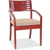 "Lorell Guest Chair - Fabric Beige Seat - Solid Wood Frame - Four-legged Base - Cherry - 23.3"" Width x 24.8"" Depth x 34"" Height"