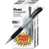Pentel Champ Mechanical Pencil, 0.5mm - HB Lead Degree (Hardness) - 0.5 mm Lead Diameter - Refillable - Black Lead - Black Barrel - 24 / Pack
