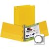 "Samsill Ring Binder - 3"" Binder Capacity - Round Ring Fastener - Inside Front & Back Pocket(s) - Board, Vinyl - Yellow"