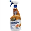 Zep Commercial Hardwood/Laminate Floor Cleaner - Ready-To-Use Liquid Solution - 0.25 gal (32 fl oz) - 12 / Carton - Blue