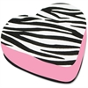 Ashley Zebra Heart Magnetic Whitebd Eraser - Magnetic, Lightweight - Black, White - 1 Each