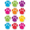 Ashley Dry Erase Paw-shaped Die-cut Magnets - Fun Theme/Subject - 12 Paw - Magnetic - Write on/Wipe off, Die-cut, Heavy Duty, Damage Resistant, Long Lasting - Assorted - 1 Set