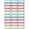 Ashley Dry Erase Chevron Nameplate Magnets - 30 Rectangle - Magnetic - Chevron - Die-cut, Write on/Wipe off, Heavy Duty - Multicolor - Foam - 1 Pack