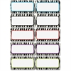 "Ashley Zebra Print DryErase Nameplate Magnet - Rectangle - Magnetic - Zebra - Write on/Wipe off - 2.25"" Height - Black, White - 10 / Pack"